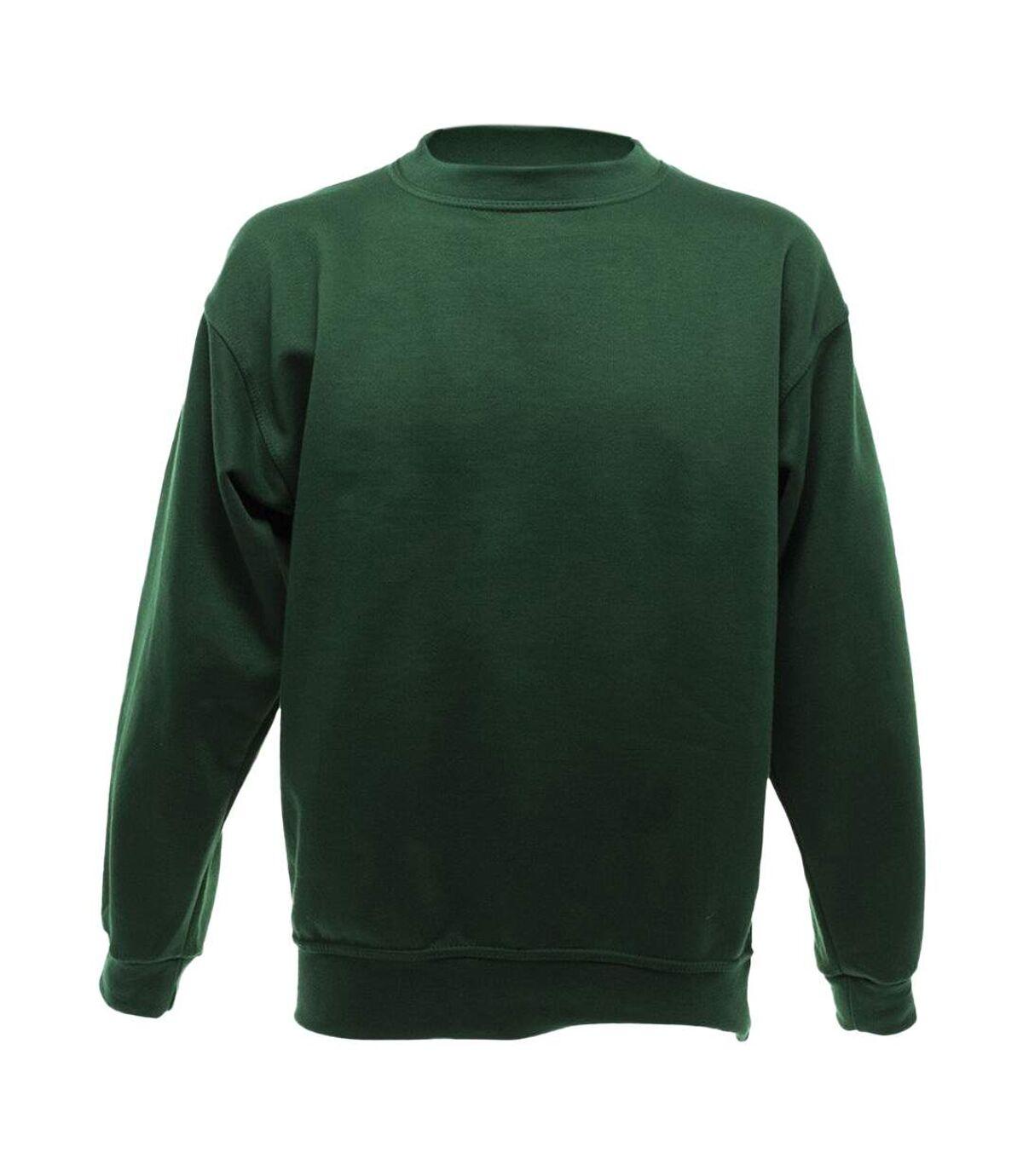 UCC 50/50 Mens Heavyweight Plain Set-In Sweatshirt Top (Bottle Green) - UTBC1193