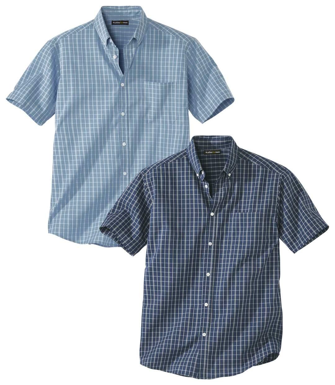 Lot de 2 Chemises à Petits Carreaux Dammier