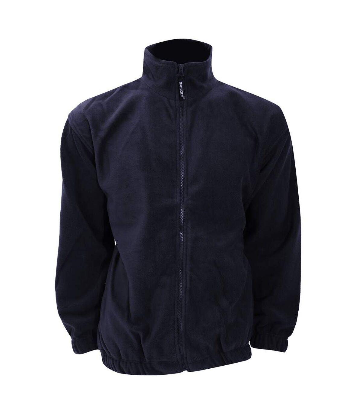 Grizzly® Full Zip Active Fleece Jacket (Black) - UTRW535