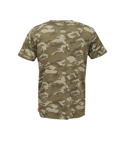 Regatta - T-shirt manches courtes DENSE - Homme (Kaki foncé) - UTRG4242