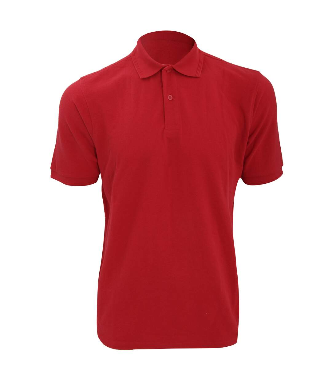 Russell Mens Ripple Collar & Cuff Short Sleeve Polo Shirt (Classic Red) - UTBC572
