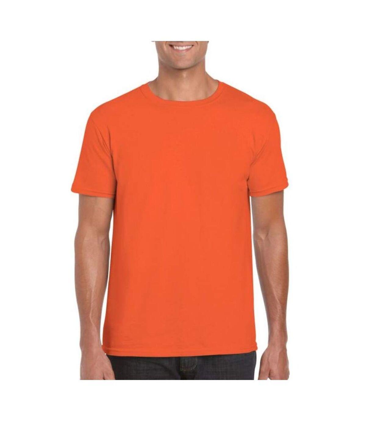 Gildan Mens Soft Style Ringspun T Shirt (Orange) - UTPC2882