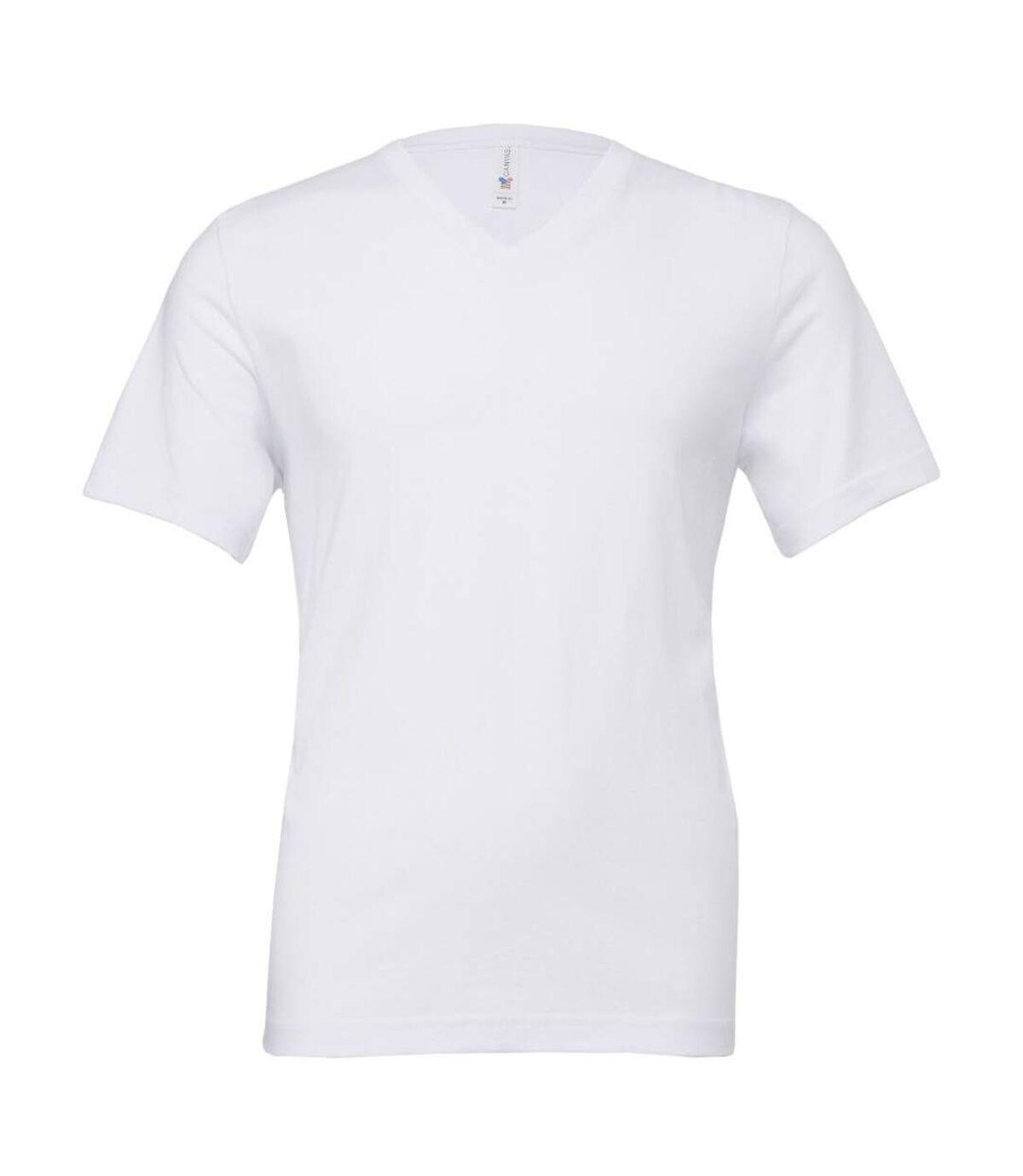 Canvas Mens Jersey Short Sleeve V-Neck T-Shirt (Navy Blue) - UTBC2595