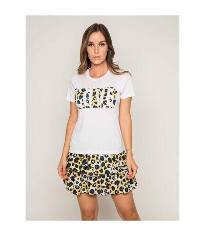 Mini-jupe volantée motif léopard XEPAR - Dona X Lisa