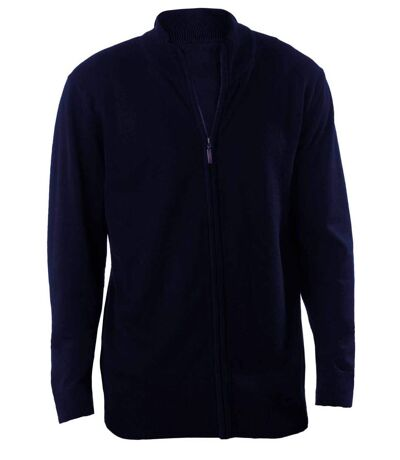 Gilet zippé cardigan K961 - homme - bleu marine
