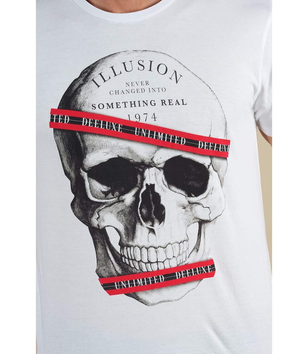 T-shirt photo tête de mort RUDY White