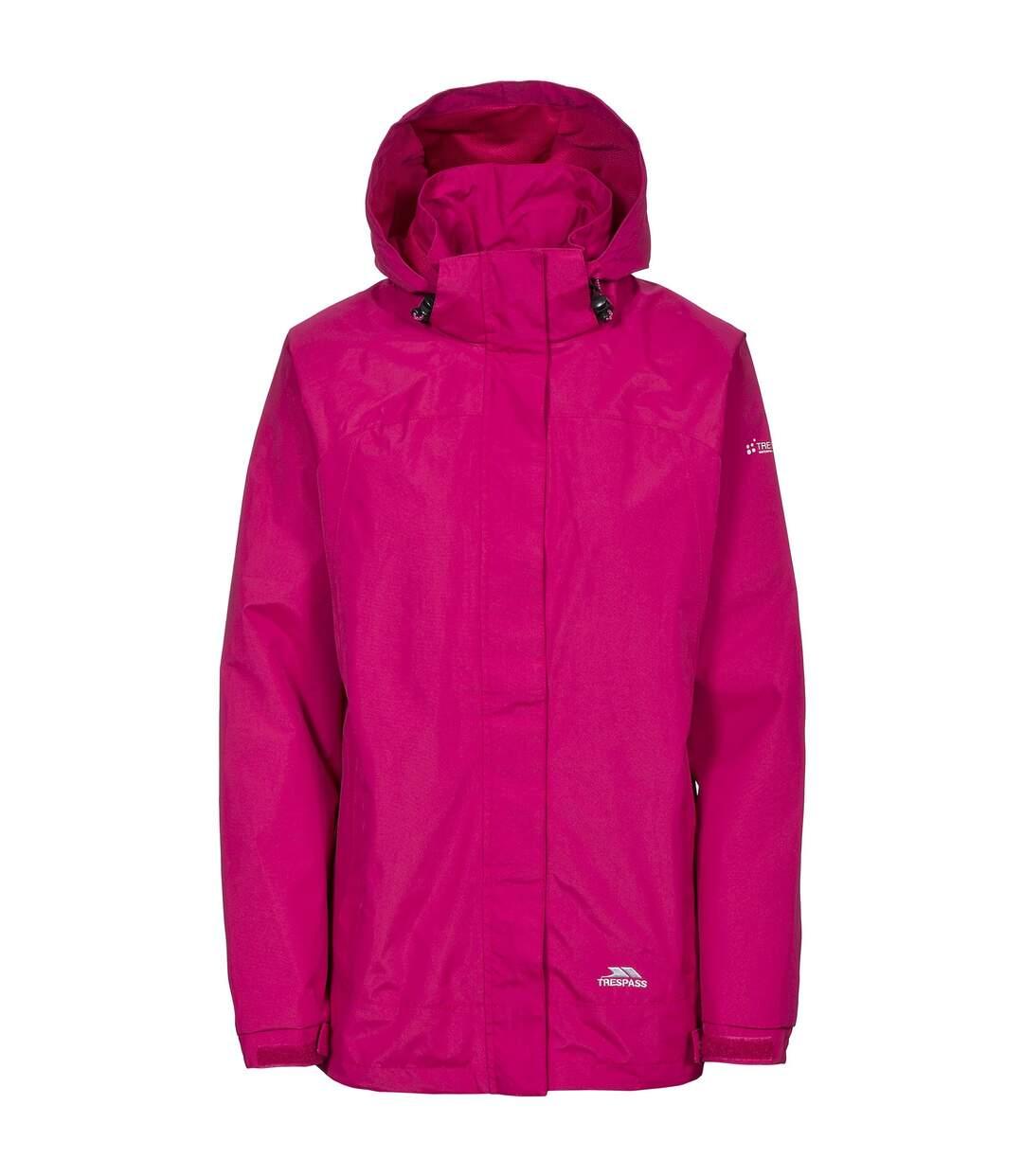 Trespass Womens/Ladies Nasu II Waterproof Shell Jacket (Cerise) - UTTP3377