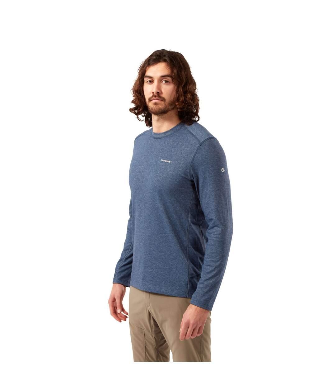 Craghoppers Mens Talen Nosilife Long-Sleeved T-Shirt (Navy Marl) - UTCG1607
