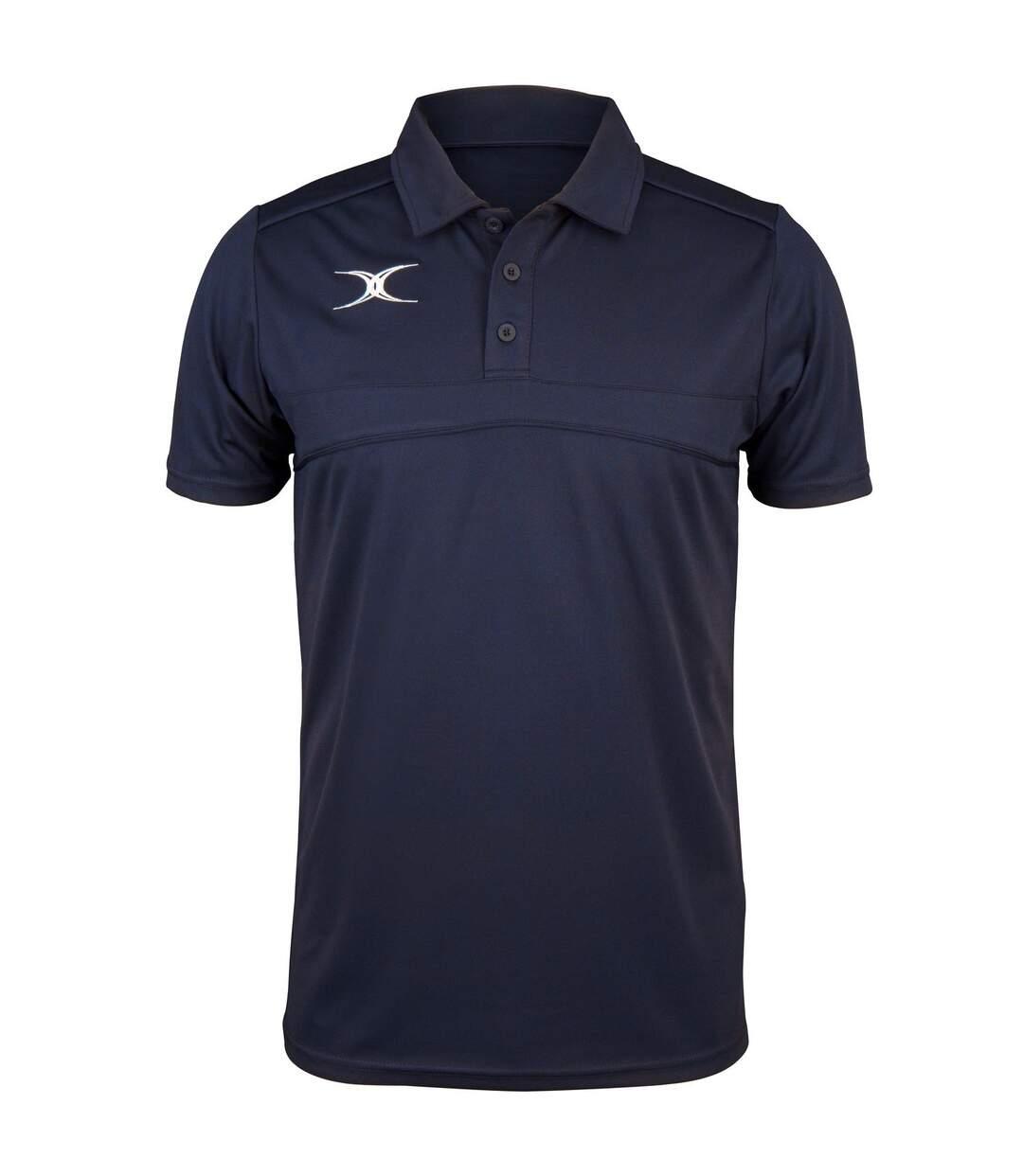 Polo de rugby manches courtes homme - GI017 - bleu marine