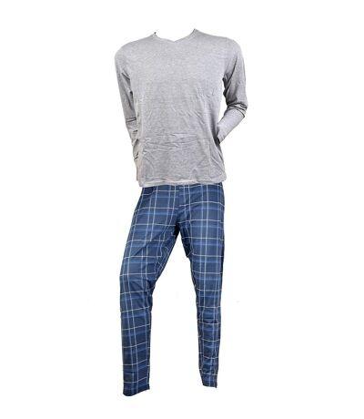Pyjama Homme RODIER en Coton -Chaleur, Douceur et confort- 0228 Marine Col V