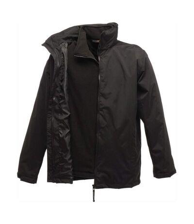 Parka veste imperméable 3 en 1 homme TRA150 - noir