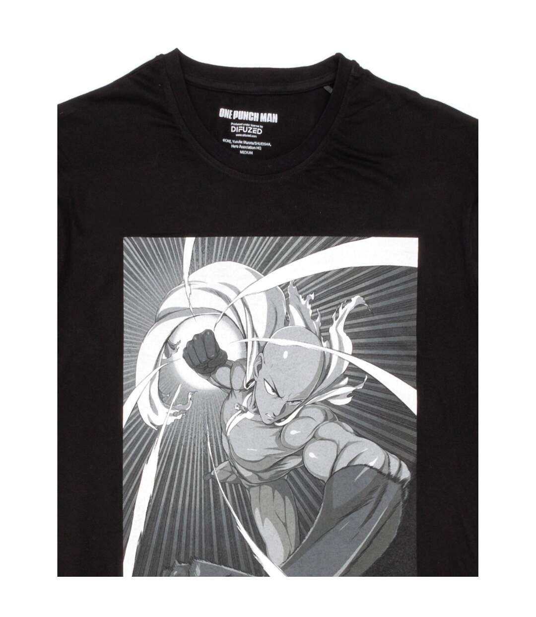 One Punch Man Mens Saitama T-Shirt (Black) - UTNS5588