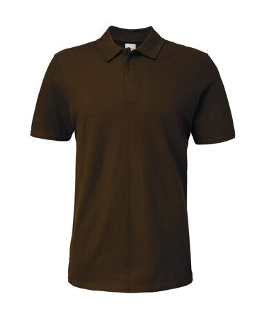 Gildan Softstyle Mens Short Sleeve Double Pique Polo Shirt (Dark Chocolate) - UTBC3718