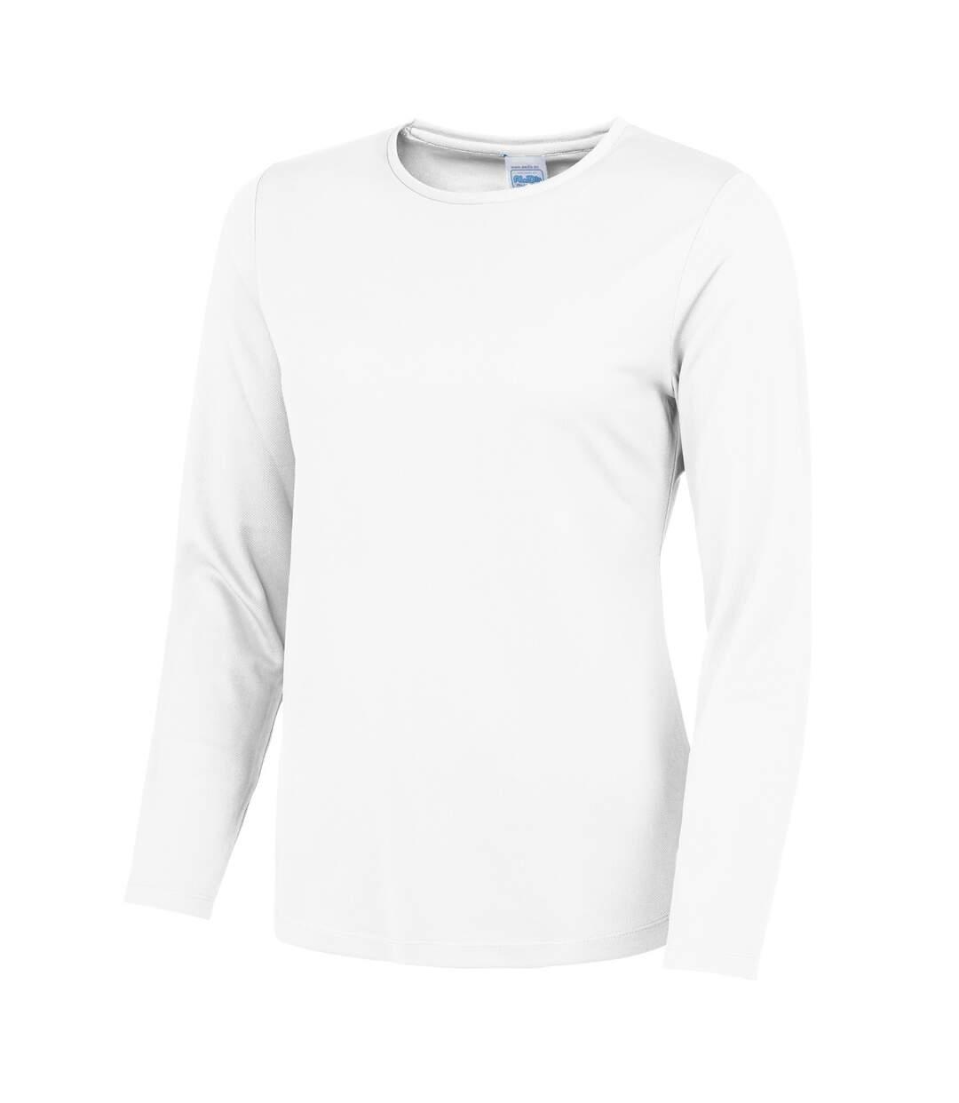 Awdis Just Cool - T-Shirt À Manches Longues - Femme (Blanc arctique) - UTRW4814