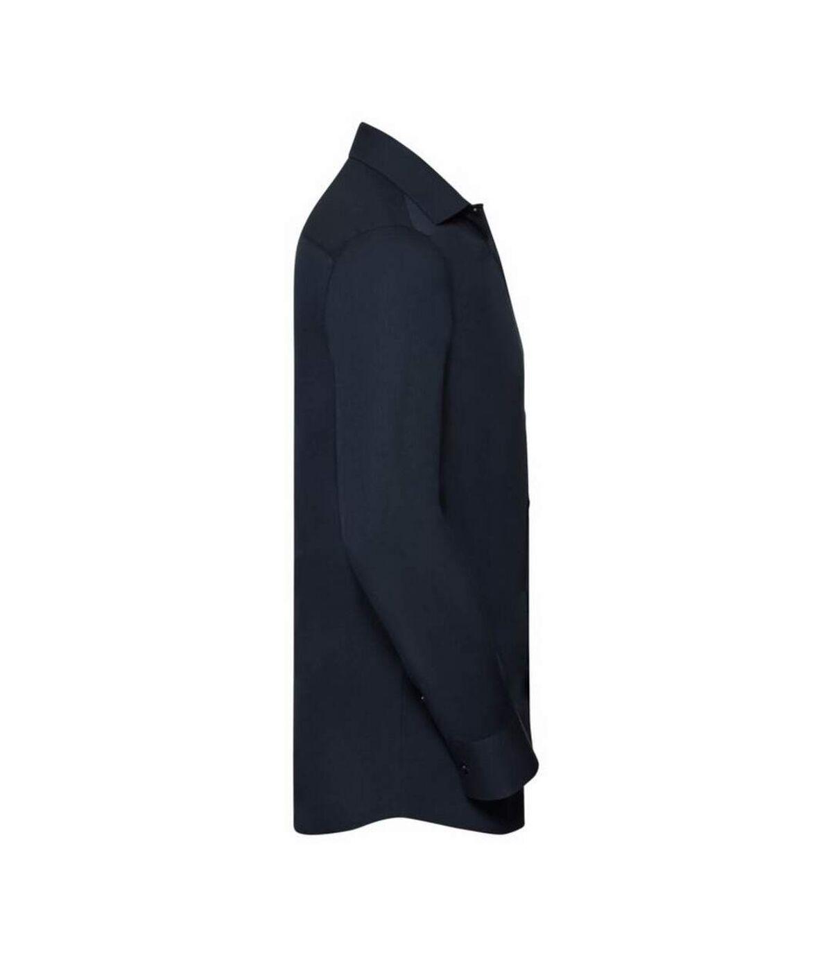 Russell Mens Stretch Moisture Management Work Shirt (Bright Navy) - UTBC2737