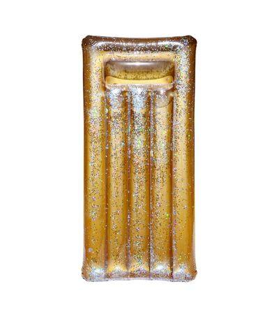 Matelas gonflable à paillettes dorées 181 cm