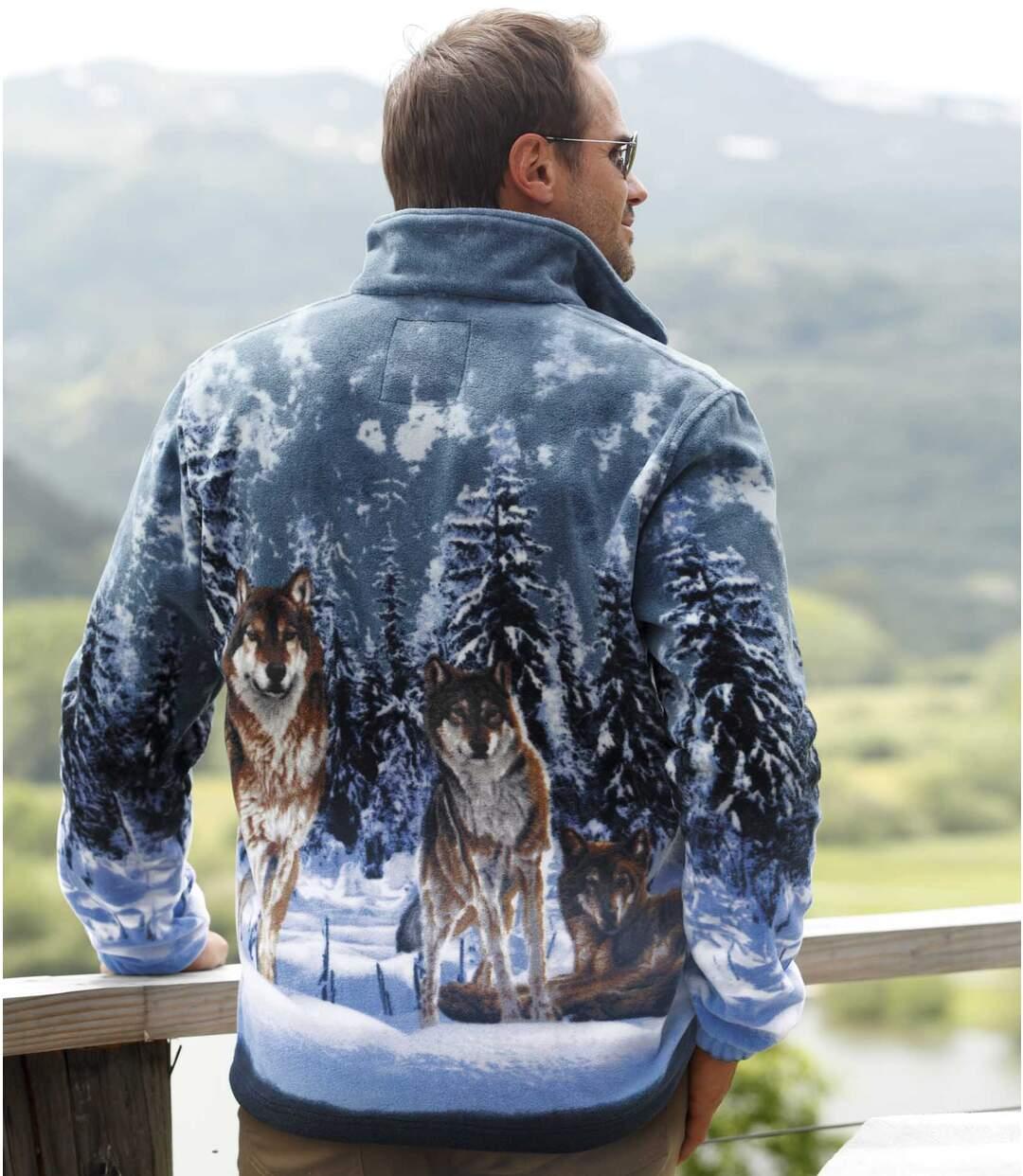 Fleecová bunda smotivy vlků