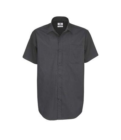 B&C Mens Sharp Twill Short Sleeve Shirt / Mens Shirts (Dark Grey) - UTBC114
