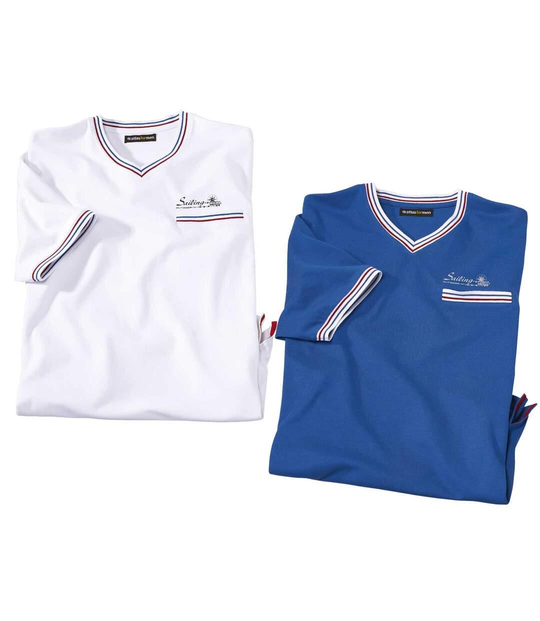 Set van 2 T-shirts met V-hals Sailing