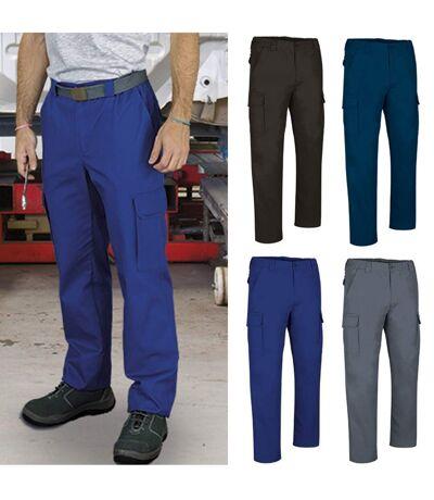 Lot 4 pantalons de travail homme - FORCE - bleu roi - marine - gris et noir