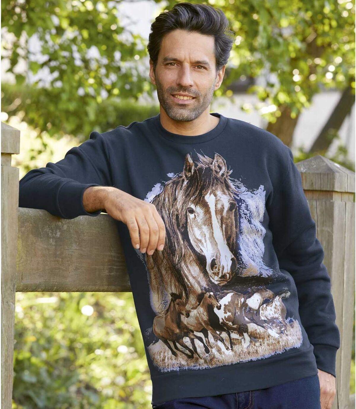 Bluza z moltonu Wild Horses Atlas For Men