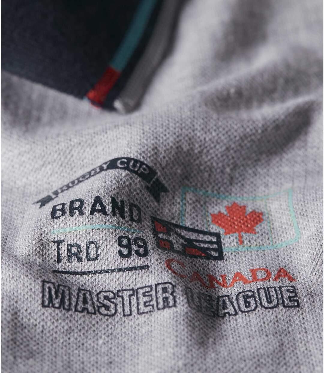 Sada 2 polo triček Canadian Club zbavlněného piké