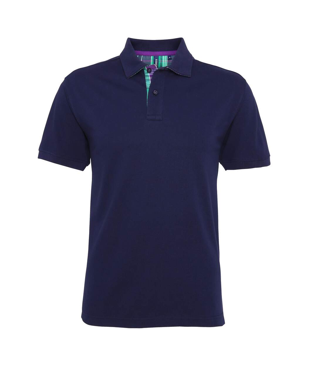 Asquith & Fox Mens Check Trim Polo Shirt (Black) - UTRW5038