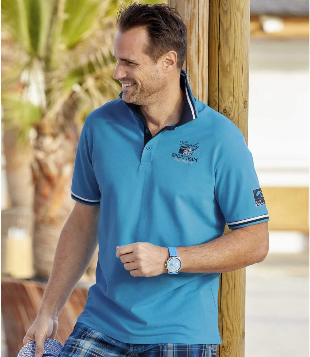 2er-Pack Poloshirts Island Cup in Piqué-Qualität