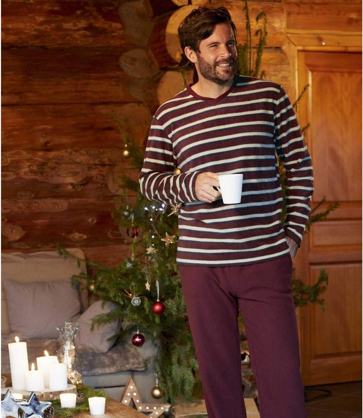 Piżama z mikropolaru w paski Atlas For Men