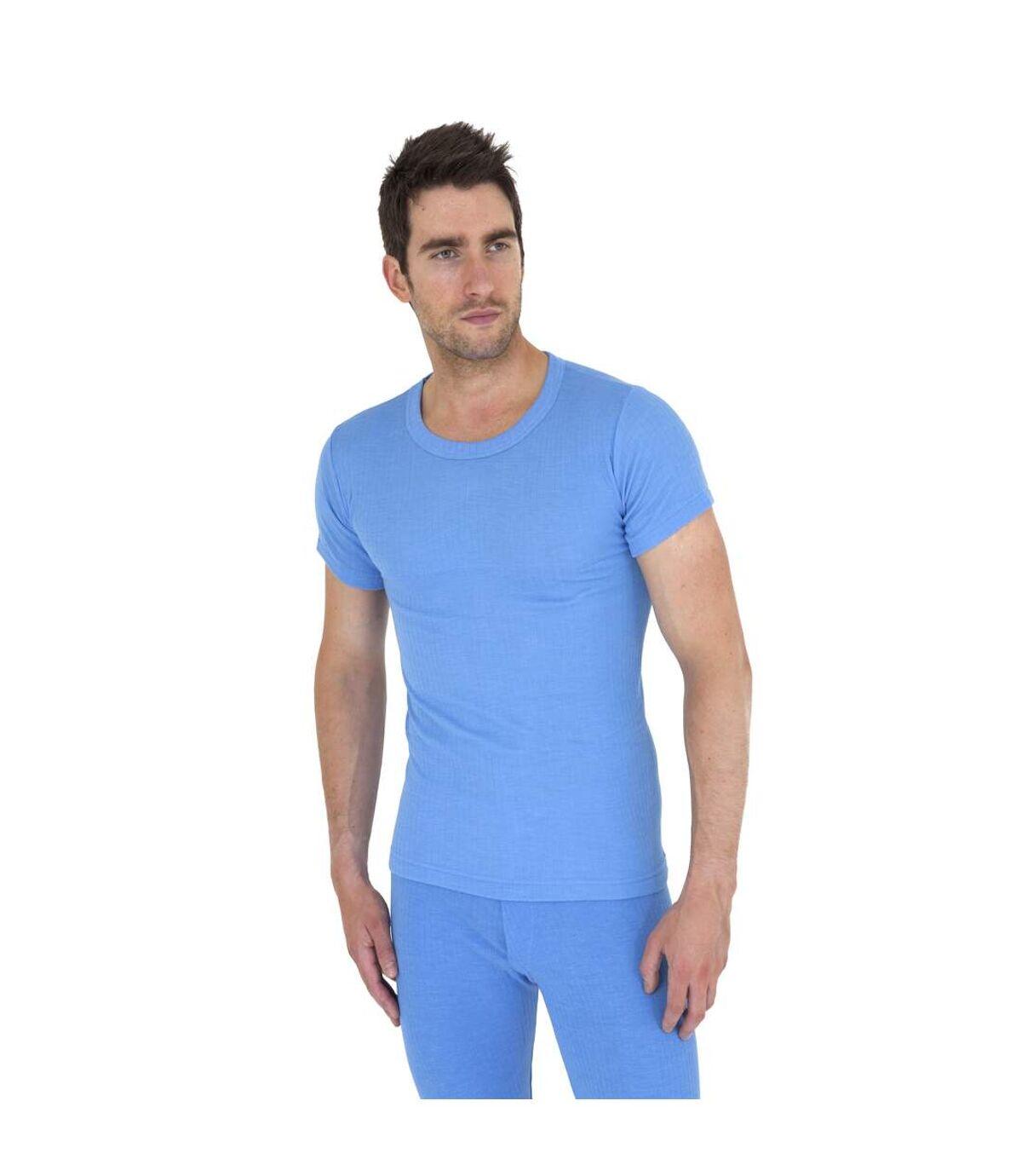 T-shirt thermique à manches courtes - Homme (Bleu) - UTTHERM2