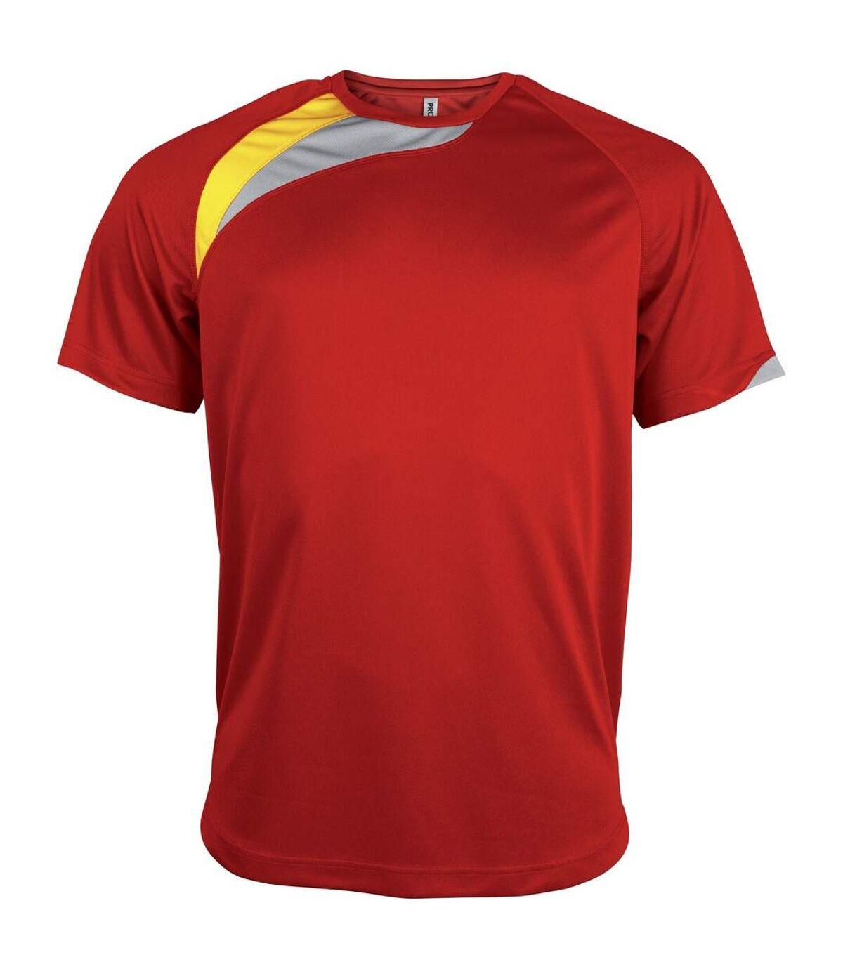 Kariban Proact Mens Short Sleeve Crew Neck Sports T-Shirt (Royal Blue/ White/ Storm Grey) - UTRW4243