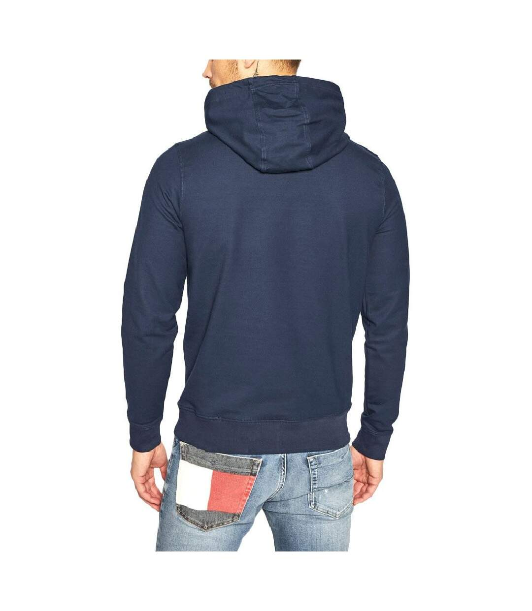 Sweat à capuche marine Tommy Jeans Chest Graphic