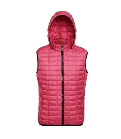 2786 Mens Honeycomb Zip Up Hooded Gilet/Bodywarmer (Mulberry) - UTRW5261