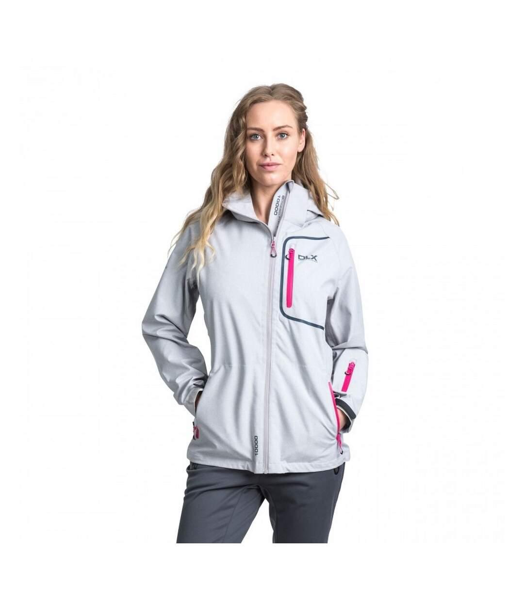 Trespass Womens/Ladies Gita II Waterproof Shell Jacket (Quartz Marl) - UTTP4131
