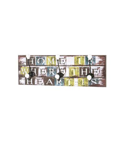 Paris Prix - Patère Murale 3 Crochets home 60cm Multicolore