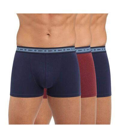 Lot x3 Boxers Bleu/Rouge Homme Dim