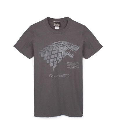 Game of Thrones Mens Winter Is Coming Stark T-Shirt (Grey) - UTNS5565