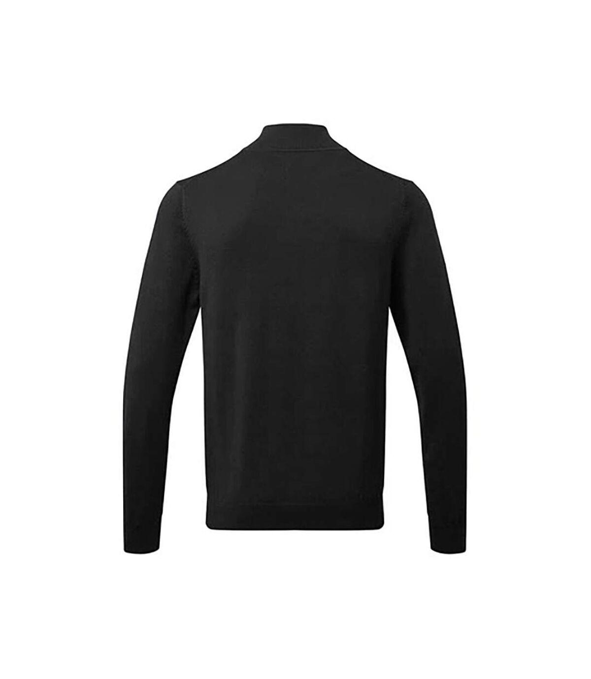 Asquith & Fox Mens Cotton Blend Zip Sweatshirt (Black) - UTRW6640