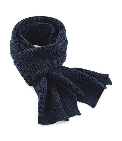 Beechfield Unisex Classic Waffle Knit Winter Scarf (French Navy) (One Size) - UTRW3665