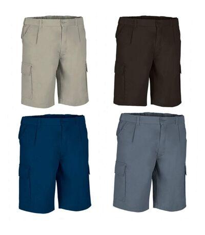 Lot 4 Bermudas pour homme - DESERT - bleu marine - noir - gris et beige sable