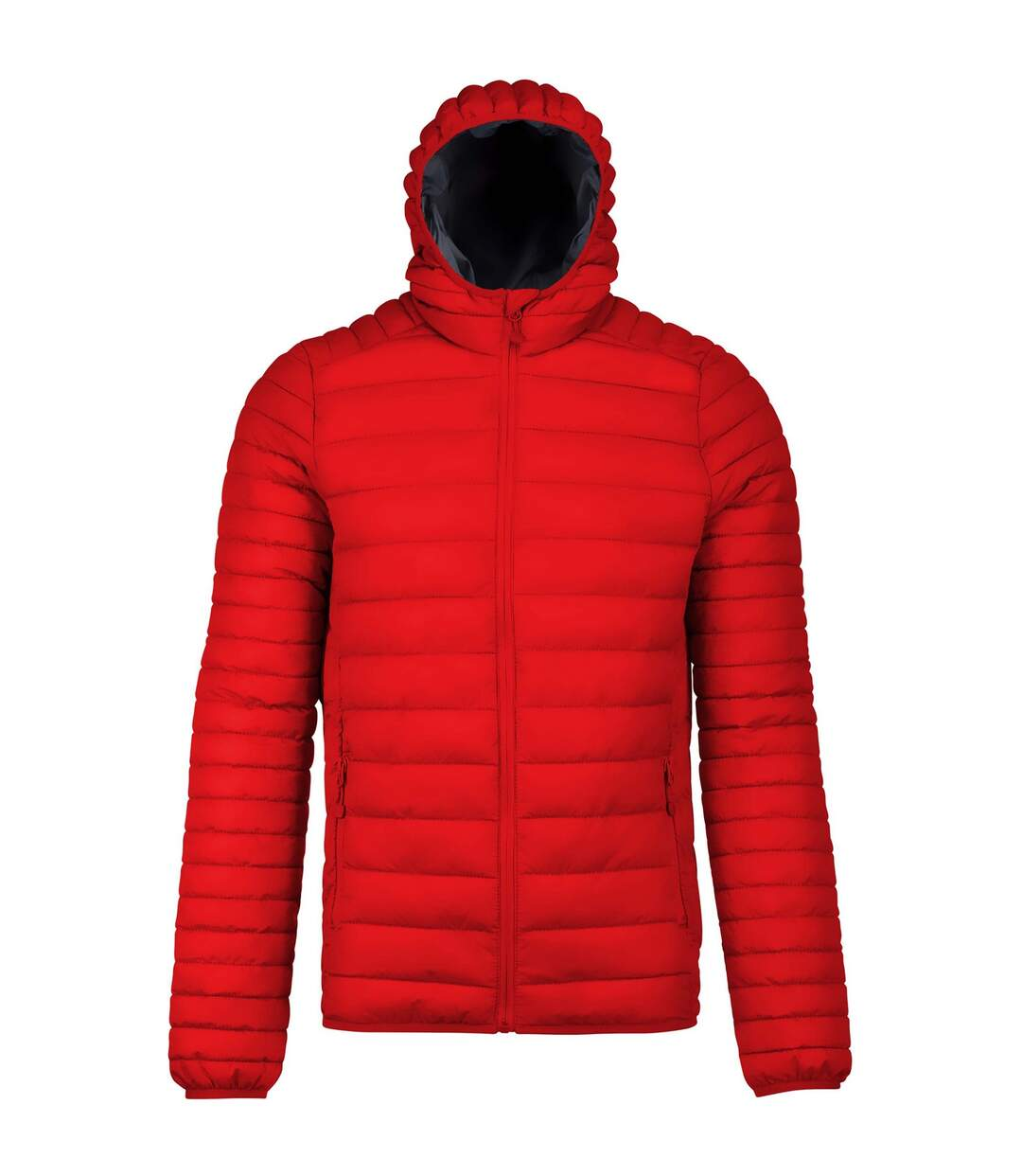 Kariban Mens Lightweight Hooded Down Jacket (Red) - UTPC2666