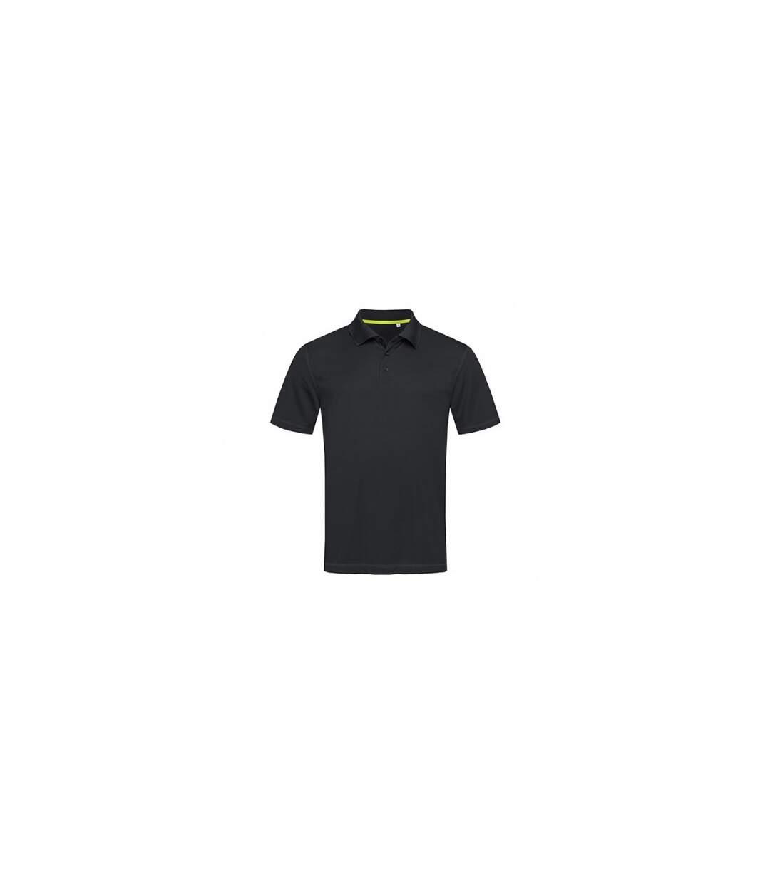 Stedman Mens Active 140 Mesh Polo (Black Opal) - UTAB346