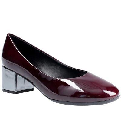 The Flexx Womens Headmistress Leather Slip On Court Shoe (Bordo) - UTFS6015