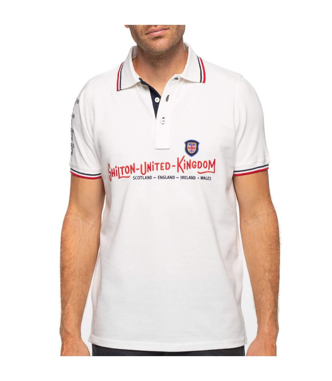 Polo rugby britain manches courtes