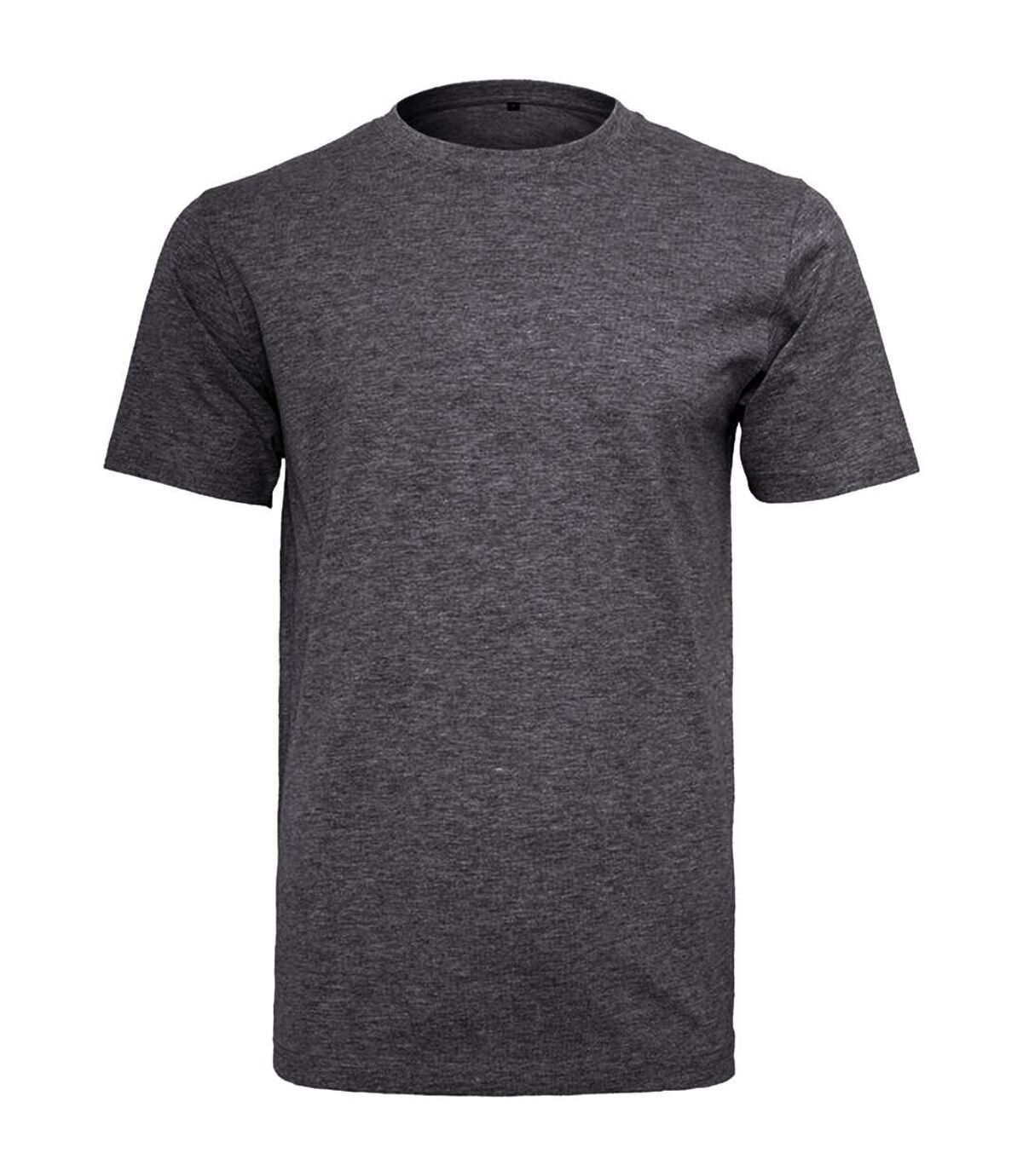 Build Your Brand Mens Short Sleeve Round Neck T-Shirt (Charcoal) - UTRW5685