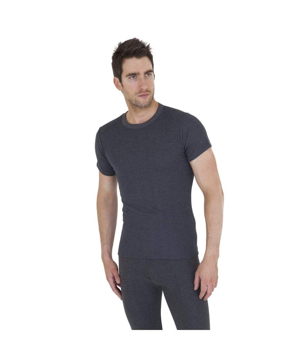 T-shirt thermique à manches courtes - Homme (Gris foncé) - UTTHERM2