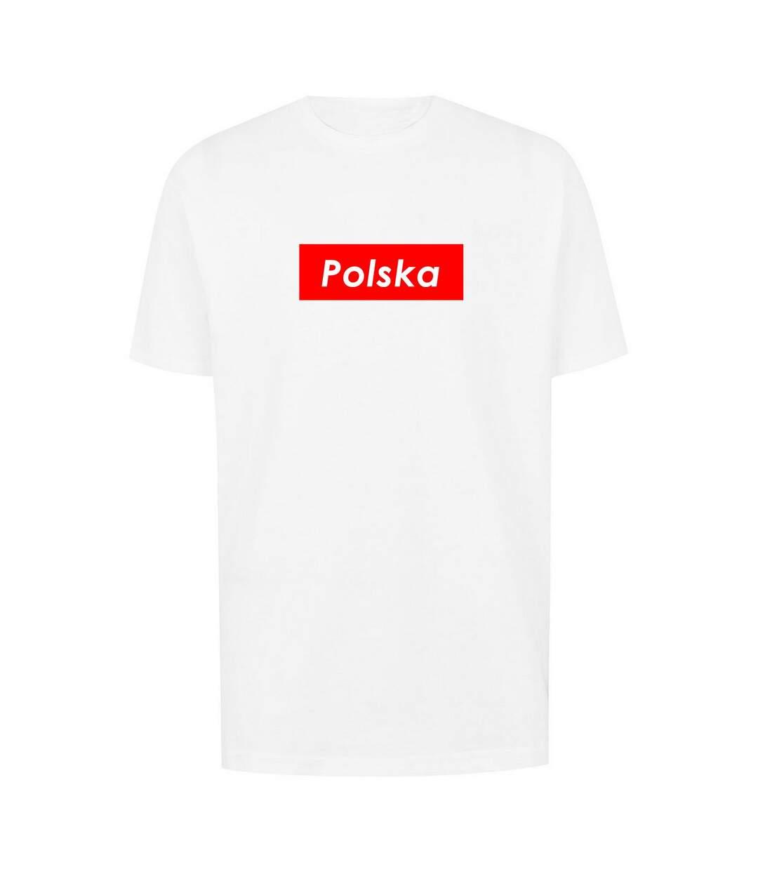 The T-Shirt Factory Mens Polska Poland Box Logo T-Shirt (White) - UTTF673