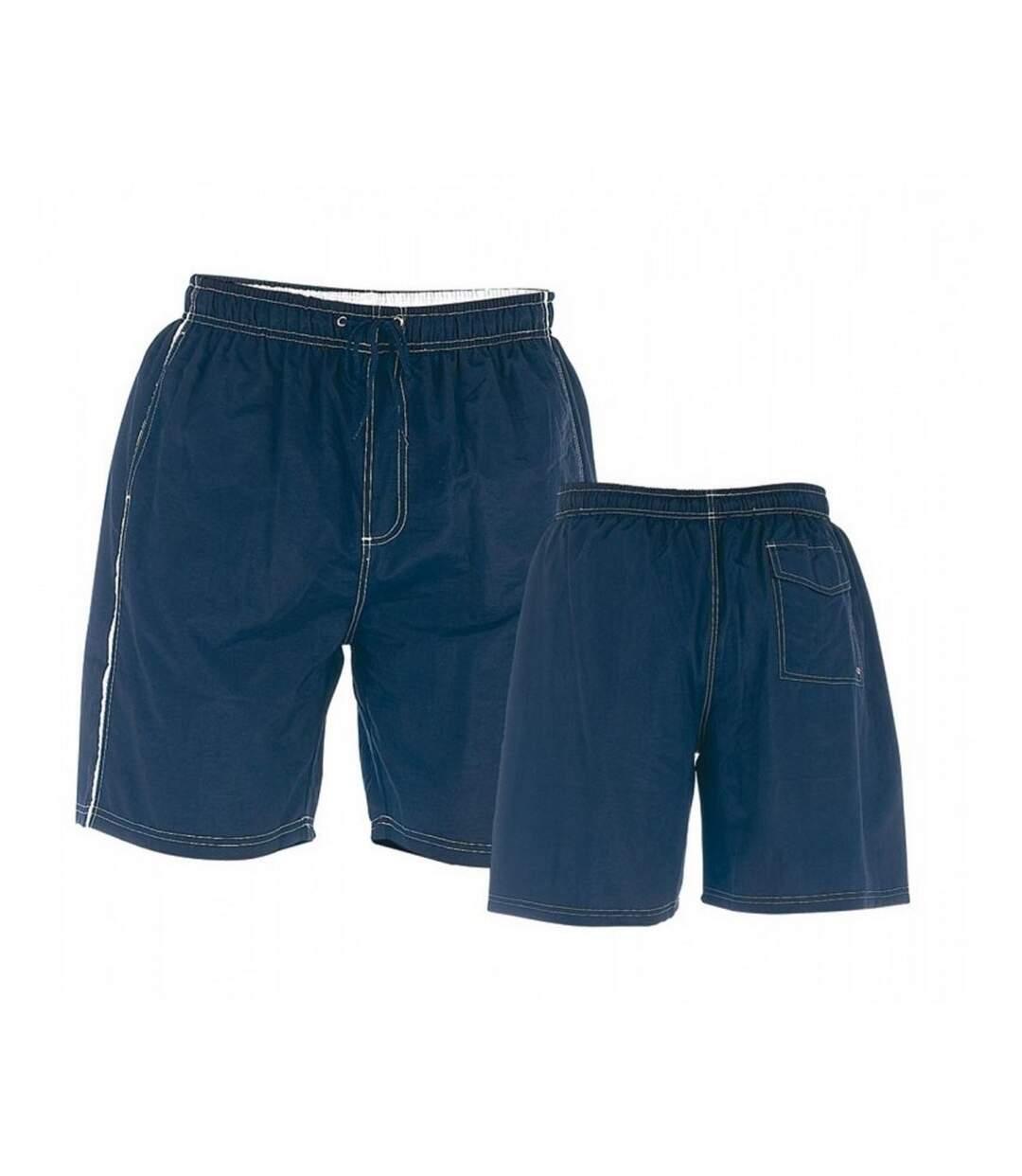 Duke Mens Yarrow D555 Full Length Swim Shorts (Burgundy) - UTDC205
