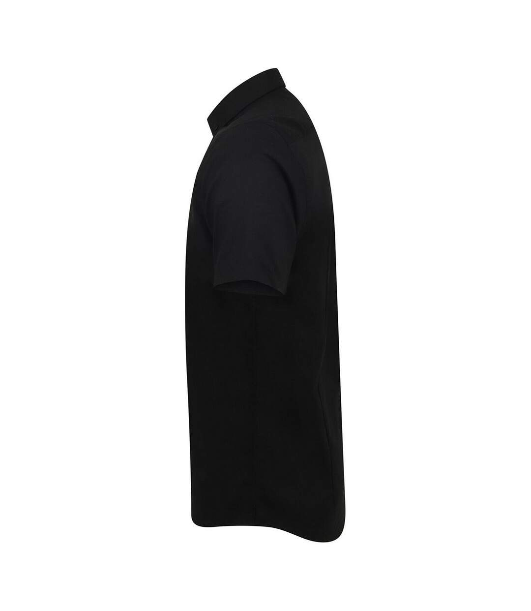 Henbury Mens Modern Short Sleeve Oxford Shirt (Black) - UTRW5425