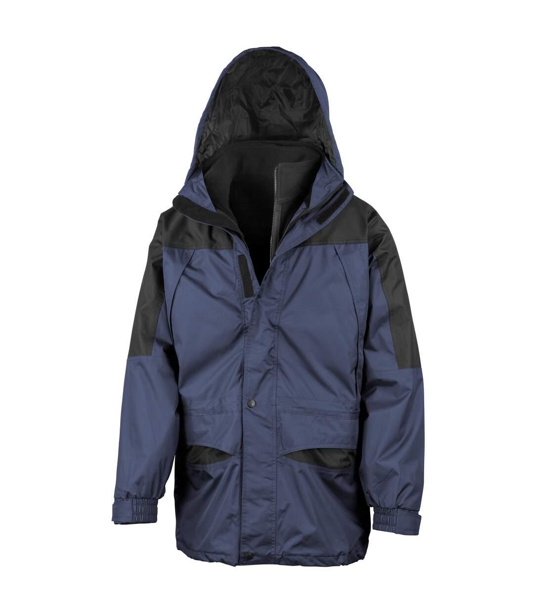 Result Mens Alaska 3-in-1 StormDri Waterproof Windproof Jacket (Navy/Black) - UTBC941